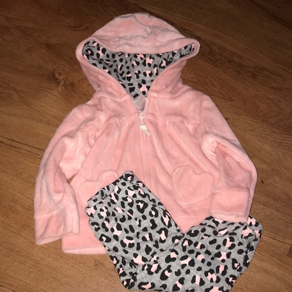 Carter/'s Infant Girls 3-Piece Jacket Set Pink /& Navy w// Hearts NWT outfit hoodie